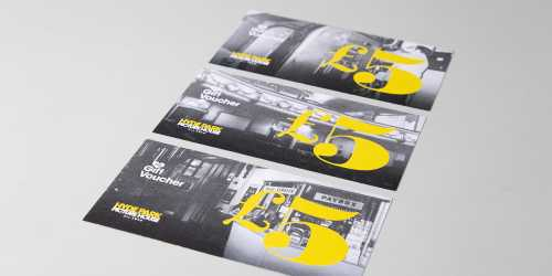 Photograph of cinema vouchers